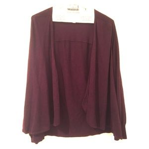 Medium Ann Taylor maroon cardigan